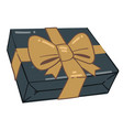 present in box greeting with holidays giving vector image vector image