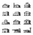 public building icon set architecture and urban vector image