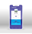 purple and blue user account profile ui ux gui vector image vector image