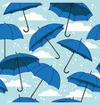 seamless pattern with bright umbrellas vector image