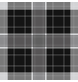 seamless white black tartan with stripes vector image vector image