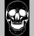 silhouette realistic red skull vector image vector image