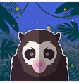 spectacled bear on jungle background vector image vector image
