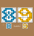 sudoku game with the answers 8 9 numbers vector image