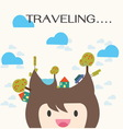travel and vacation cartoon vector image vector image