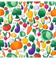 vegetables seamless pattern background vector image