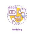 wedding concept icon vector image vector image