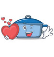 with heart kitchen character cartoon style vector image vector image