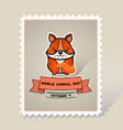 world animal day cute animal fox vector image vector image