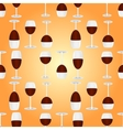 glasses with red wine seamless pattern vector image