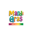 Mardi Gras card sign vector image