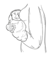 baby and woman body vector image