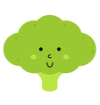 Beautiful cute carton Broccoli character vector image