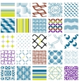 25 Universal different geometric seamless patterns vector image