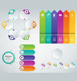 3d infographics templates set business vector image vector image