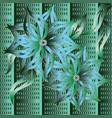 3d vintage green floral seamless pattern ornate vector image