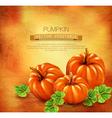 Vintage background with three pumpkins