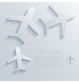 airplane icon background Eps10 vector image