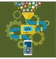 App development for mobile phone vector image vector image