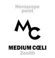 astrology medium coeli zenith vector image vector image
