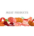 banner with meat products vector image