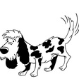 black and white dog vector image vector image