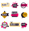 black friday sales and promotions autumn promo vector image