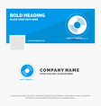 blue business logo template for disc dj vector image