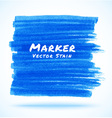 Blue Marker Stain vector image