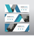 blue triangle abstract corporate business vector image