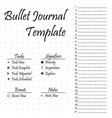 bullet journal template simple papers task vector image vector image