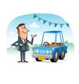 Car Salesman vector image vector image