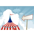 Circus tent top vector image