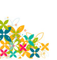 colorful flower pattern and graphic decoration vector image vector image