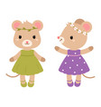cute mouses flat vector image vector image