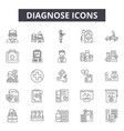 diagnose line icons signs set outline vector image vector image