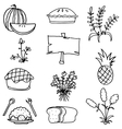 Doodle of thanksgiving collection stock vector image vector image