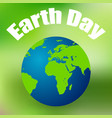 earth day on april 11 colored background vector image