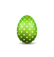 easter egg 3d icon green color egg isolated vector image vector image