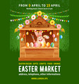 easter market poster template vector image vector image