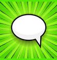 empty speech bubbl on pop art comic style dot vector image vector image