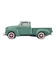 farm retro pickup drawing off-road car vector image