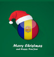 flag of andorra merry christmas and happy new vector image