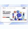 flat modern design website template - we vector image vector image