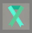 flat shading style icon gay hiv ribbon vector image