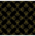 Geometric golden pattern with oriental vector image
