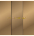 gold background with pattern vector image vector image