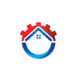 great home improvement logo design with house vector image vector image