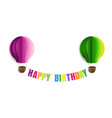 happy birthday text isolated white background vector image