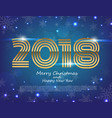 happy new year 2018 text design greeting vector image vector image